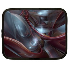 Shells Around Tubes Abstract Netbook Case (xxl)  by Onesevenart