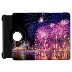 Singapore New Years Eve Holiday Fireworks City At Night Kindle Fire Hd 7  by Onesevenart