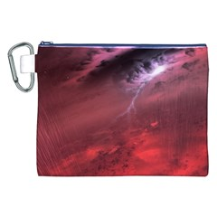 Storm Clouds And Rain Molten Iron May Be Common Occurrences Of Failed Stars Known As Brown Dwarfs Canvas Cosmetic Bag (xxl) by Onesevenart