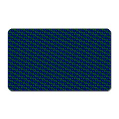 Chain Blue Green Woven Fabric Magnet (rectangular) by AnjaniArt