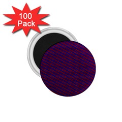 Chain Blue Red Woven Fabric 1 75  Magnets (100 Pack)  by AnjaniArt