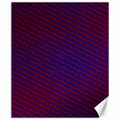 Chain Blue Red Woven Fabric Canvas 8  X 10  by AnjaniArt