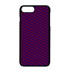Chain Blue Red Woven Fabric Apple Iphone 7 Plus Seamless Case (black) by AnjaniArt