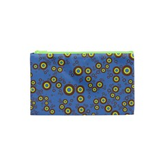 Circle Purple Yellow Cosmetic Bag (xs) by AnjaniArt