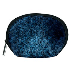 Blue Texture Accessory Pouches (medium)  by AnjaniArt