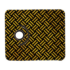 Woven2 Black Marble & Yellow Marble Samsung Galaxy S  Iii Flip 360 Case by trendistuff