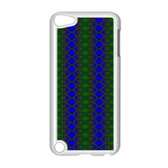 Diamond Alt Blue Green Woven Fabric Apple Ipod Touch 5 Case (white) by AnjaniArt