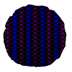 Diamond Alt Blue Purple Woven Fabric Large 18  Premium Round Cushions by AnjaniArt