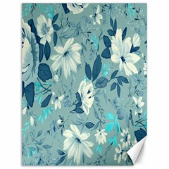 Floral Pattern Wallpaper Canvas 12  X 16   by AnjaniArt