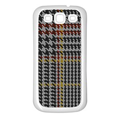Glen Woven Fabric Samsung Galaxy S3 Back Case (white) by AnjaniArt