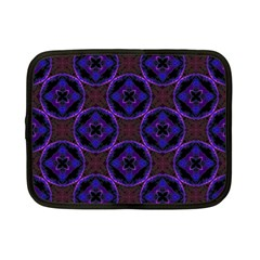 Background Colour Blue Flower Netbook Case (small)