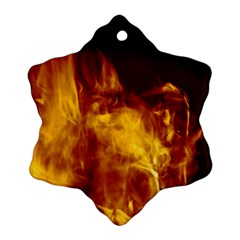 Ablaze Abstract Afire Aflame Blaze Snowflake Ornament (two Sides)