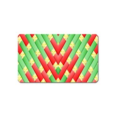 Christmas Geometric 3d Design Magnet (name Card)