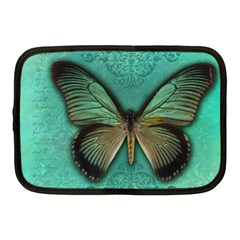 Butterfly Background Vintage Old Grunge Netbook Case (medium)  by Amaryn4rt