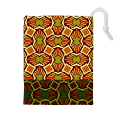 Geometry Shape Retro Trendy Symbol Drawstring Pouches (extra Large) by Amaryn4rt