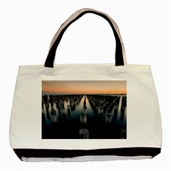 Logs Nature Pattern Pillars Shadow Basic Tote Bag