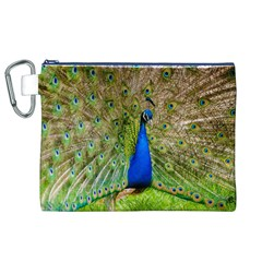 Peacock Animal Photography Beautiful Canvas Cosmetic Bag (xl) by Amaryn4rt