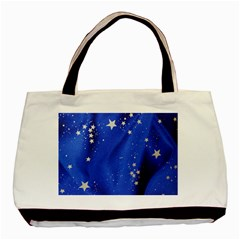 The Substance Blue Fabric Stars Basic Tote Bag