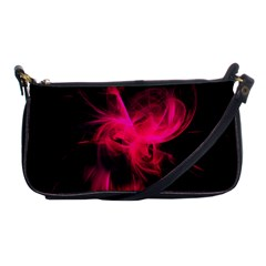 Pink Flame Fractal Pattern Shoulder Clutch Bags by traceyleeartdesigns