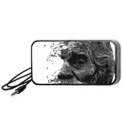 Grandfather Old Man Brush Design Portable Speaker (black)