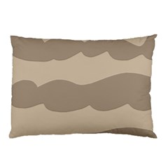 Pattern Wave Beige Brown Pillow Case (two Sides)
