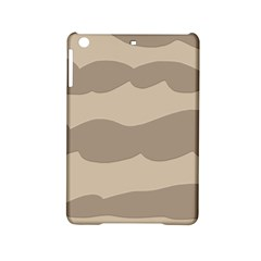Pattern Wave Beige Brown Ipad Mini 2 Hardshell Cases by Amaryn4rt