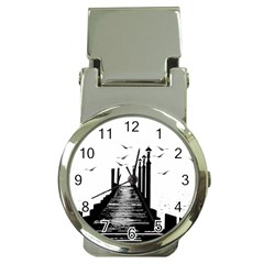 The Pier The Seagulls Sea Graphics Money Clip Watches