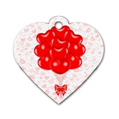 Abstract Background Balloon Dog Tag Heart (one Side)