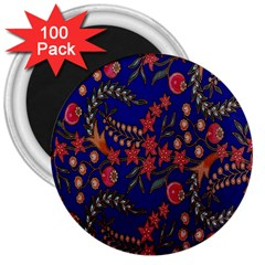 Batik Fabric 3  Magnets (100 Pack) by Jojostore