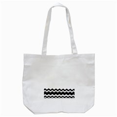 Chevrons Black Pattern Background Tote Bag (white) by Nexatart