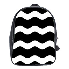 Wave Black School Bags (xl)  by Jojostore