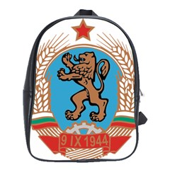 Coat Of Arms Of Bulgaria (1968 1971) School Bags(large)  by abbeyz71