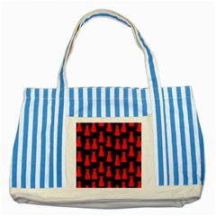Dresses Seamless Pattern Striped Blue Tote Bag by Nexatart