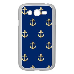 Gold Anchors Background Samsung Galaxy Grand Duos I9082 Case (white) by Nexatart