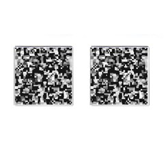 Noise Texture Graphics Generated Cufflinks (Square) by Nexatart