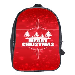 Red Bokeh Christmas Background School Bags(large)  by Nexatart