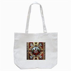 Stained Glass Skylight In The Cedar Creek Room In The Vermont State House Tote Bag (white) by Nexatart