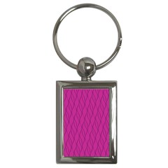 Magenta Pattern Key Chains (rectangle)  by Valentinaart