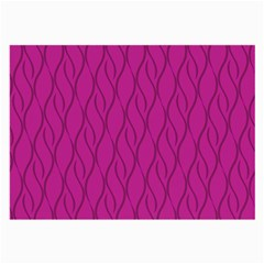 Magenta Pattern Large Glasses Cloth (2 Side) by Valentinaart