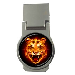 Tiger Money Clips (round)  by Nexatart