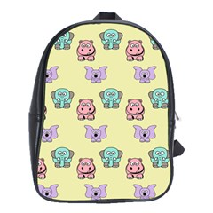 Animals Pastel Children Colorful School Bags (xl)  by Nexatart