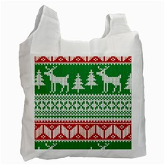 Christmas Jumper Pattern Recycle Bag (one Side) by Nexatart