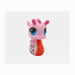 Dragon Toy Pink Plaything Creature Small Glasses Cloth (2 Side) by Nexatart