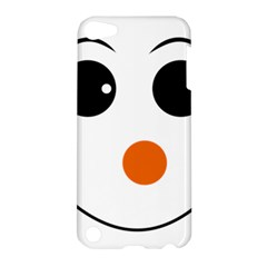 Happy Face With Orange Nose Vector File Apple Ipod Touch 5 Hardshell Case by Nexatart