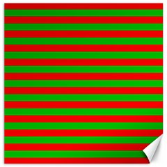 Pattern Lines Red Green Canvas 20  X 20   by Nexatart