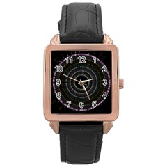 Circos Comp Inv Rose Gold Leather Watch