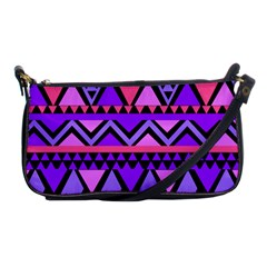 Seamless Purple Pink Pattern Shoulder Clutch Bags by Nexatart