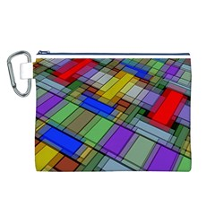 Abstract Background Pattern Canvas Cosmetic Bag (l) by Nexatart