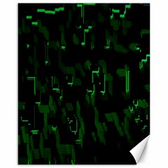 Abstract Art Background Green Canvas 16  X 20   by Nexatart