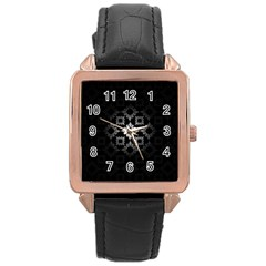 Antique Backdrop Background Baroque Rose Gold Leather Watch